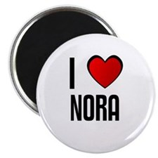 "I LOVE NORA 2.25"" Magnet (10 pack)"
