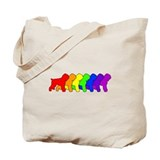 Rainbow Black Terrier Tote Bag