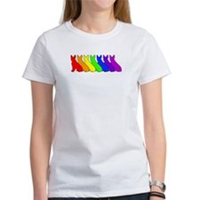 Rainbow Boston Terrier Tee
