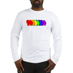 Rainbow Chow Chow Long Sleeve T-Shirt
