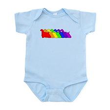 Rainbow Cocker Spaniel Infant Bodysuit