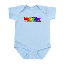 Rainbow Curly Infant Bodysuit