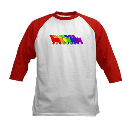 Rainbow Springer Kids Baseball Jersey