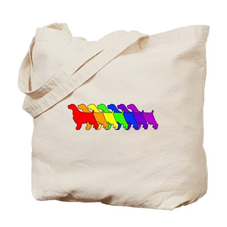 Rainbow Springer Tote Bag