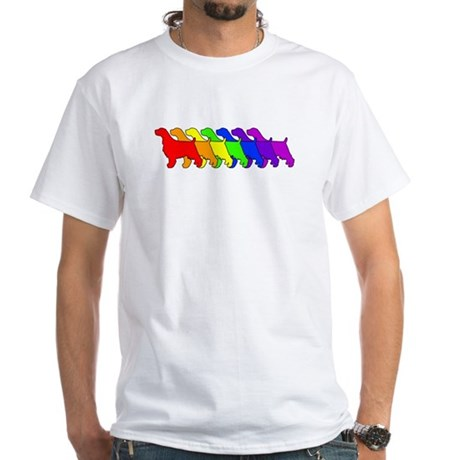 Rainbow Springer White T-Shirt