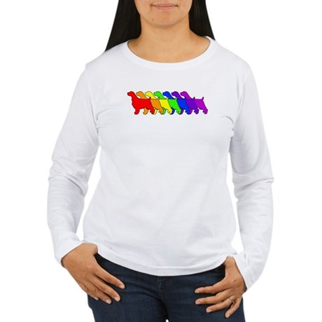 Rainbow Springer Women's Long Sleeve T-Shirt