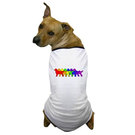Rainbow Flatcoat Dog T-Shirt