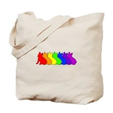 Rainbow Frenchie Tote Bag