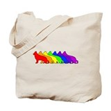 Rainbow German Shepherd Tote Bag