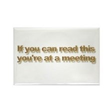 At a meeting Rectangle Magnet (100 pack)