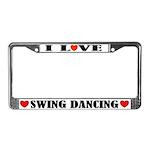 I Love Swing Dancing License Plate Frame