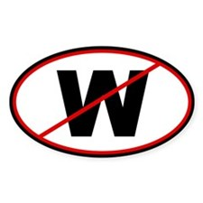 No W Round Car Decal