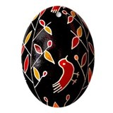 PYSANKA Ukrainian Design Flat Oval Ornament