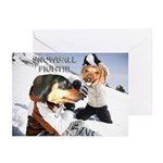 Snowball Fight Greeting Cards (Pk of 20)