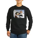Snowball Fight Long Sleeve Dark T-Shirt