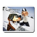 Snowball Fight Mousepad