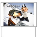 Snowball Fight Yard Sign