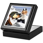 Snowball Fight Keepsake Box