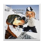 Snowball Fight Tile Coaster