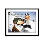 Snowball Fight Framed Panel Print