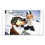 Snowball Fight Rectangle Sticker
