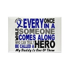 HERO Comes Along 1 Daddy CC Rectangle Magnet