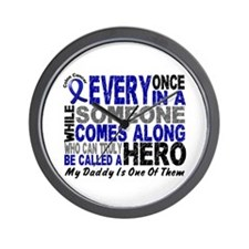 HERO Comes Along 1 Daddy CC Wall Clock