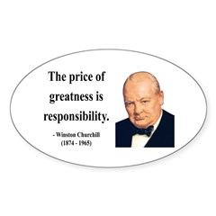 Winston Churchill 18 Oval Sticker