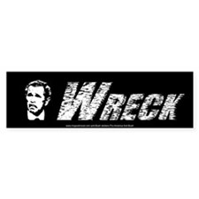 George W Bush Wreck anti -bush Bumper sticker