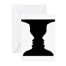 Rubin vase Greeting Cards (Pk of 20)