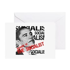 """Beware Of The Socialist"" Greeting Card"