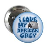 "Kawaii Congo African Grey 2.25"" Button"