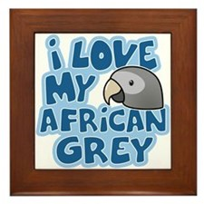 Kawaii Timneh African Grey Framed Tile