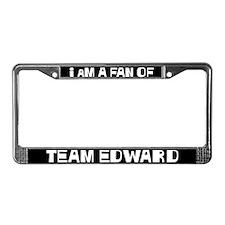 I am a Fan of Team Edward License Plate Frame