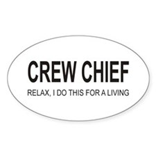 Crew Chief Oval Sticker (10 pk)