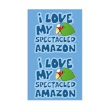 Kawaii Spectacled Amazon Sticker (2 in 1)
