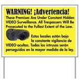 Video Surveillance Warning Yard Sign