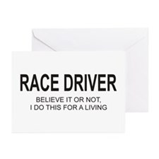 Race Driver Greeting Cards (Pk of 20)