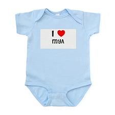 I LOVE MYA Infant Creeper