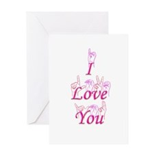 I Love You fingerspelled Greeting Card