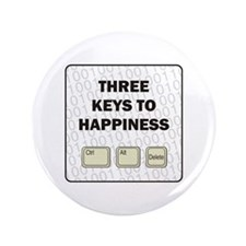 "Happiness 3.5"" Button"