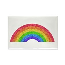 Sparkle Rainbow Rectangle Magnet