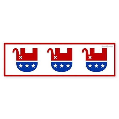 Dead Republican Elephant Bumper Sticker