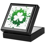 Splatter Shamrock Keepsake Box