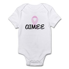AIMEE pink ribbon Infant Bodysuit