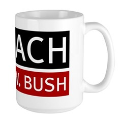 Impeach George W. Bush Large Mug
