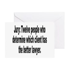 Jury, Lawyer and Justice Humor Greeting Card