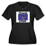 Tooele Utah Women's Plus Size V-Neck Dark T-Shirt