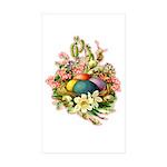 Springtime Easter Basket Rectangle Sticker 50 pk)