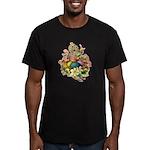 Springtime Easter Basket Men's Fitted T-Shirt (dar